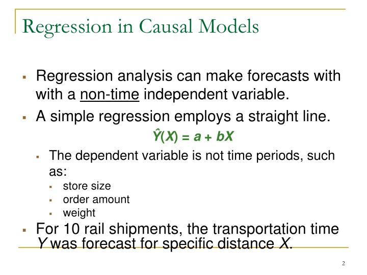 Regression in Causal Models
