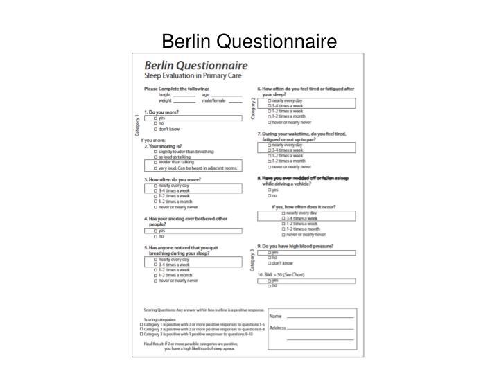 Berlin Questionnaire