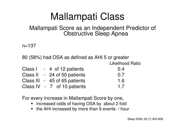 Mallampati Class