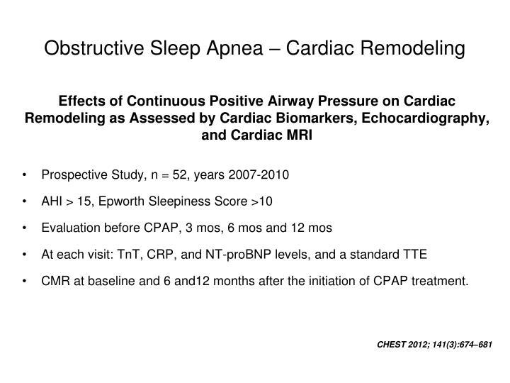 Obstructive Sleep Apnea – Cardiac Remodeling