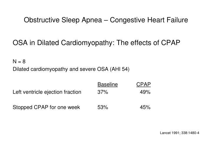 Obstructive Sleep Apnea – Congestive Heart Failure
