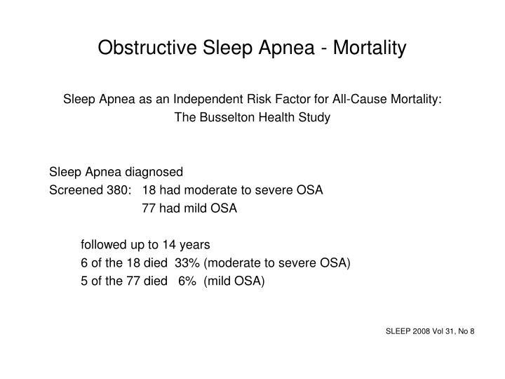 Obstructive Sleep Apnea - Mortality