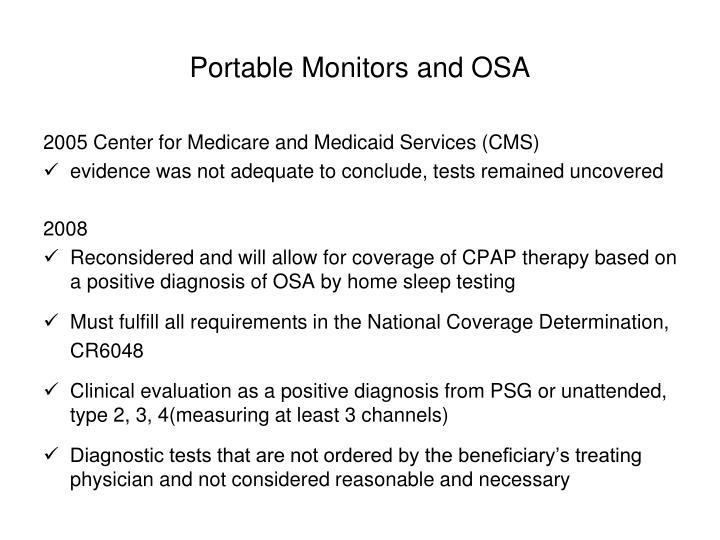 Portable Monitors and OSA