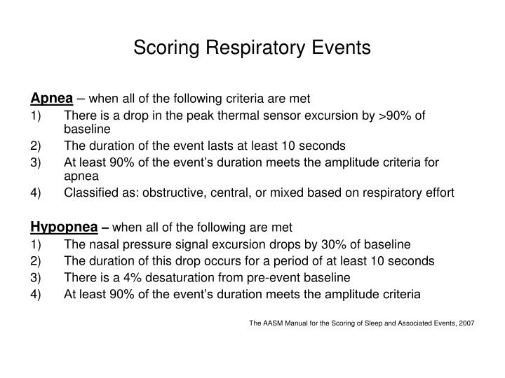 Scoring Respiratory Events