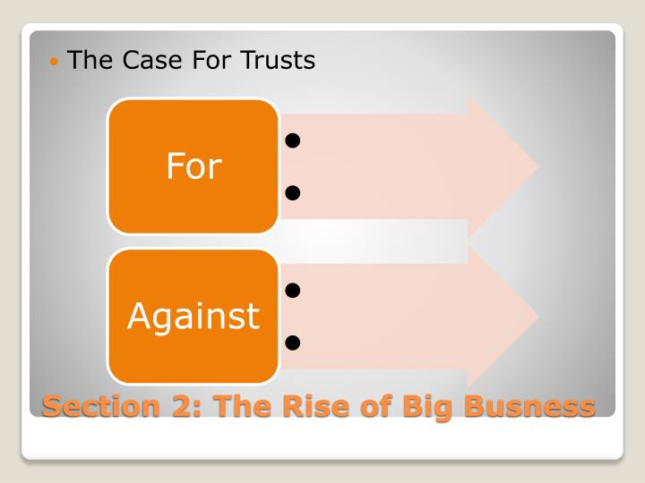 The Case For Trusts