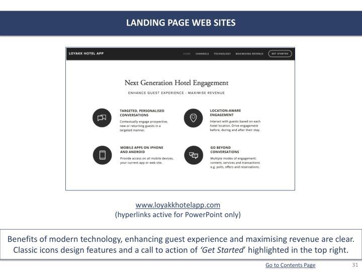 LANDING PAGE WEB SITES