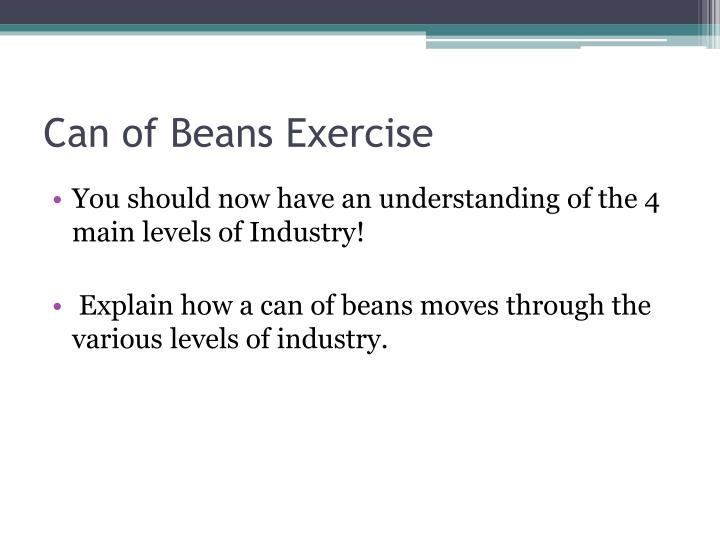 Can of Beans Exercise