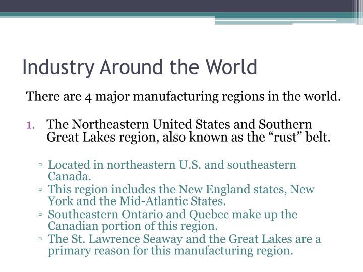 Industry Around the World