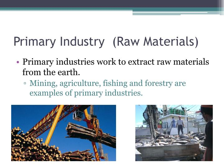 Primary Industry  (Raw Materials)