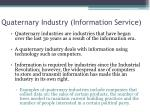 quaternary industry information service