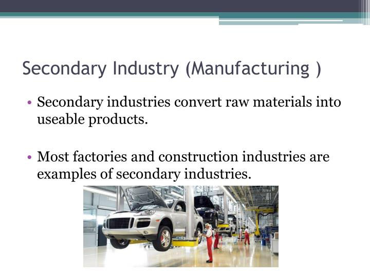 Secondary Industry (Manufacturing )