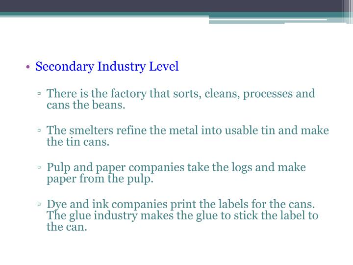 Secondary Industry Level