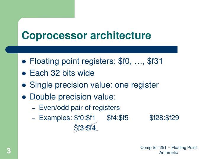 Coprocessor architecture