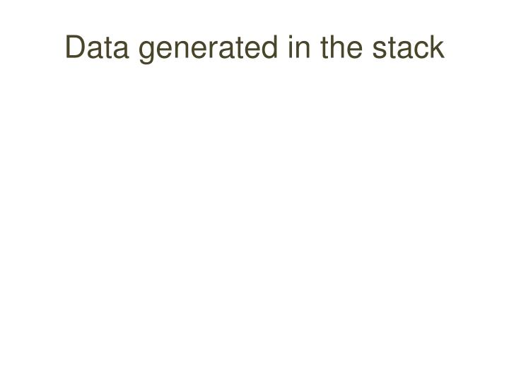 Data generated in the stack