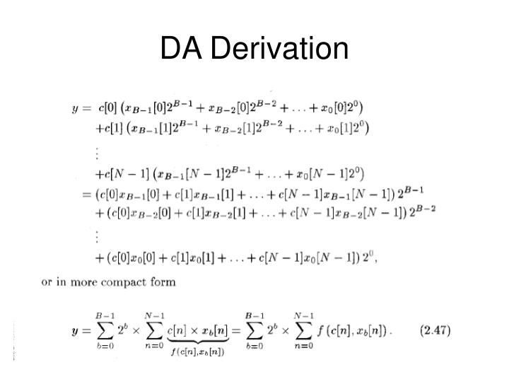 DA Derivation