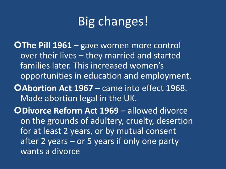 Big changes!