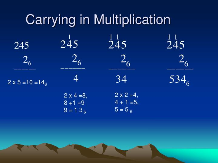 Carrying in Multiplication