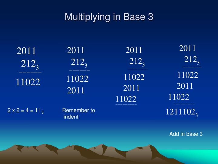 Multiplying in Base 3