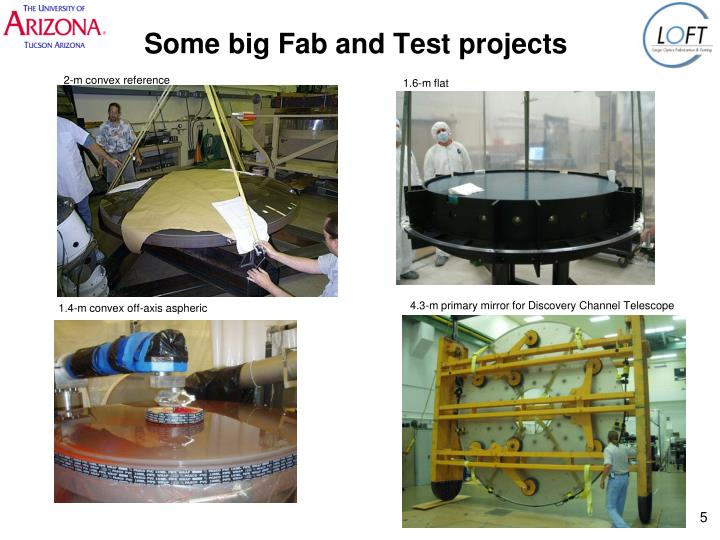 Some big Fab and Test projects
