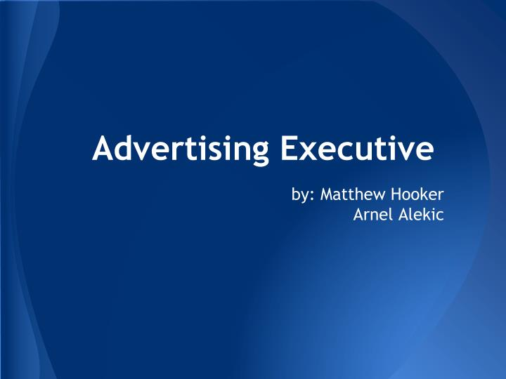 Advertising executive