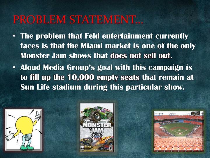 PROBLEM STATEMENT…