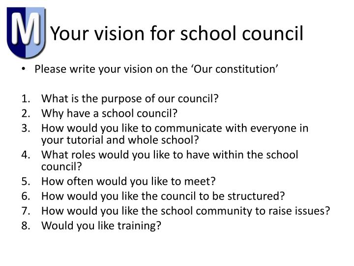 Your vision for school council