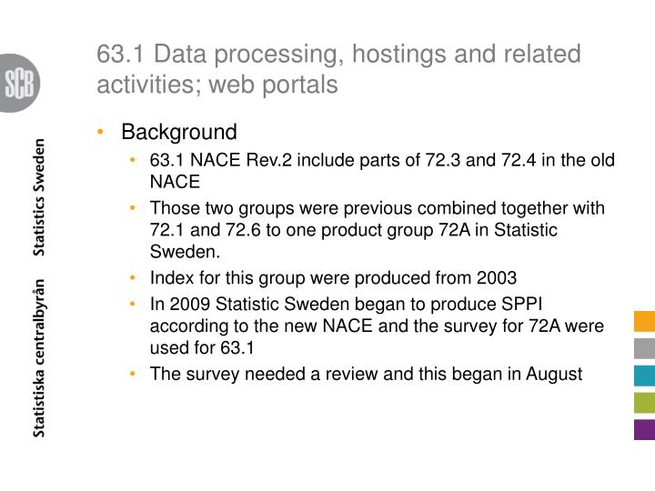 63.1 Data processing,