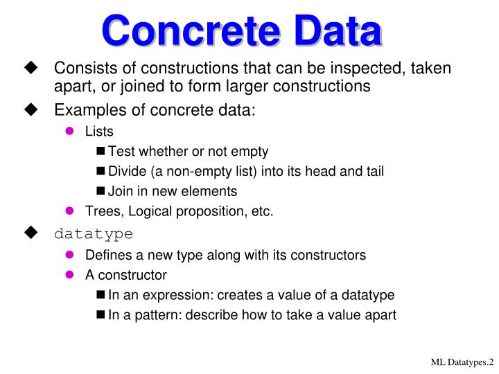 Concrete data