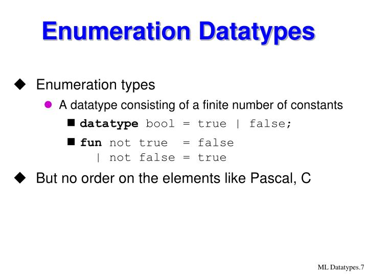 Enumeration Datatypes