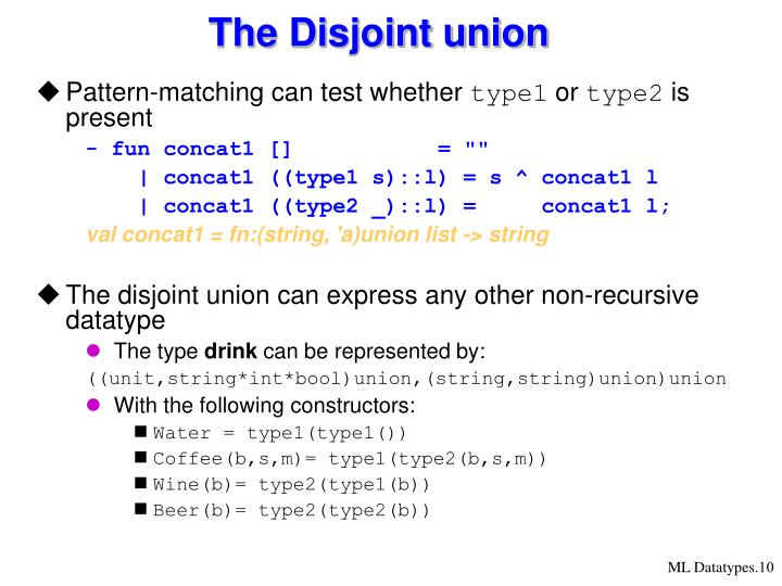 The Disjoint union