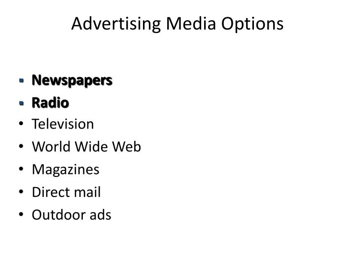 Advertising Media Options