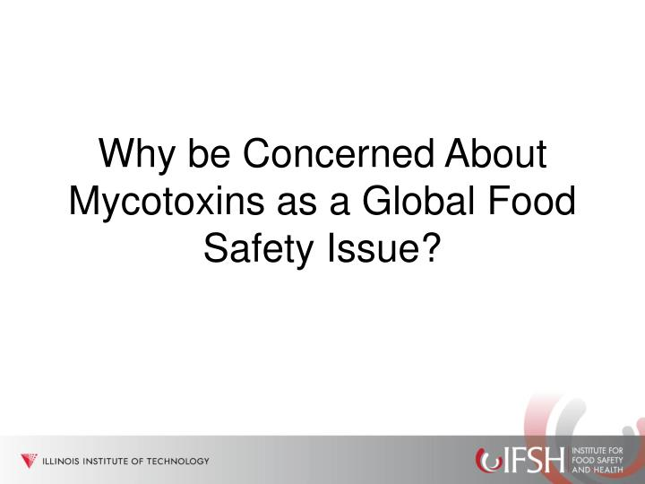 Why be Concerned About Mycotoxins as a Global Food Safety Issue?