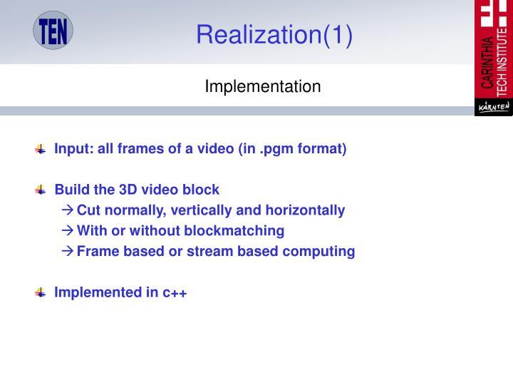 Realization(1)