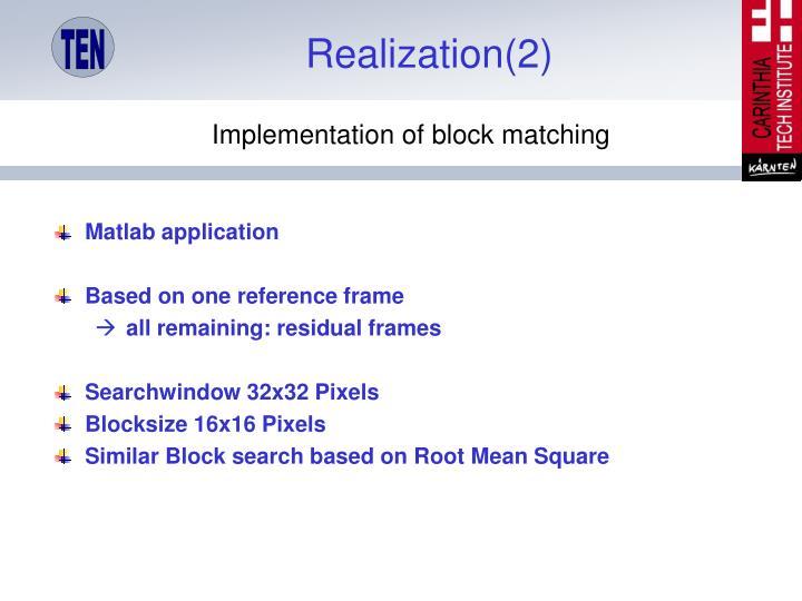 Realization(2)