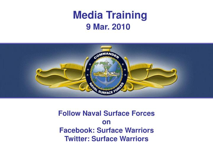 media training 9 mar 2010