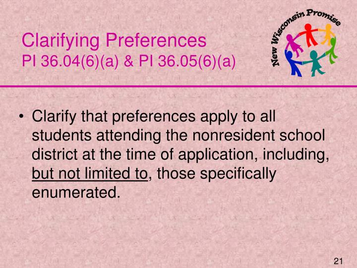 Clarifying Preferences