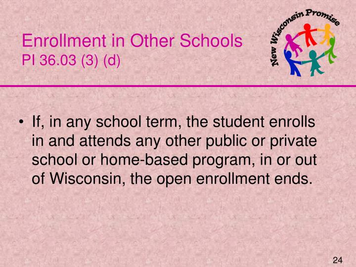 Enrollment in Other Schools