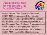 open enrollment staff toll free 888 245 2732 fax 608 267 9207