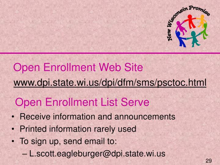 Open Enrollment Web Site