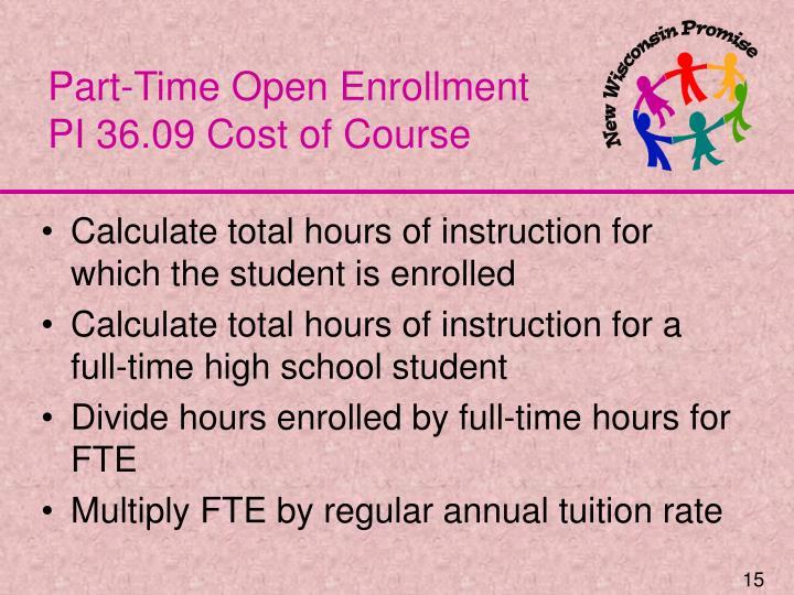 Part-Time Open Enrollment