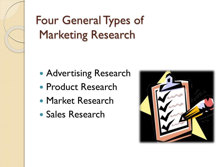 Four general types of marketing research