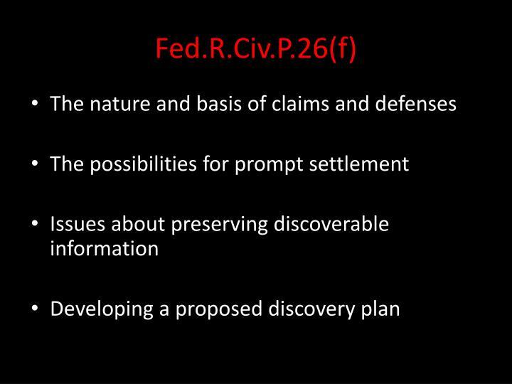 Fed.R.Civ.P.26(f)