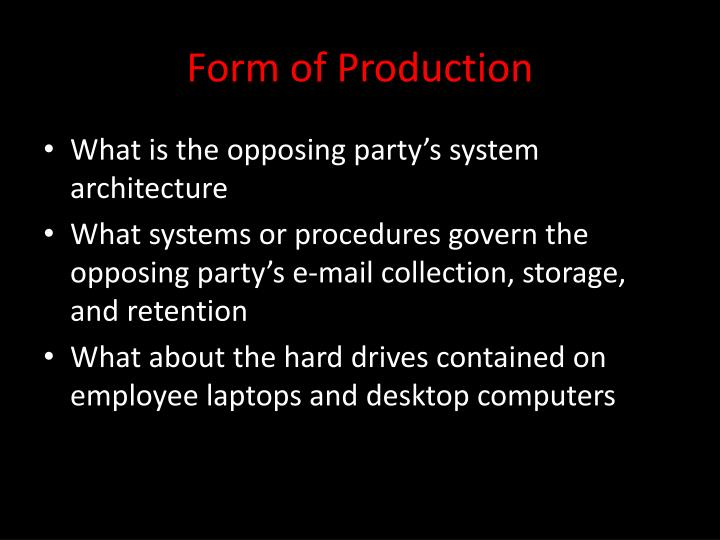 Form of Production
