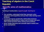 teaching of algebra in the czech republic3
