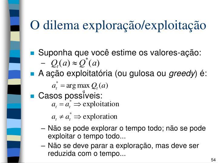 O dilema exploração/exploitação