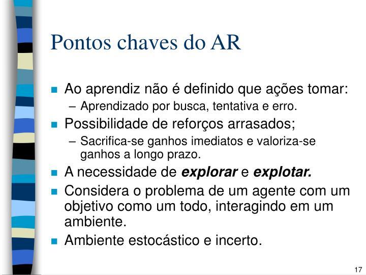 Pontos chaves do AR