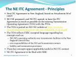 the ne itc agreement principles