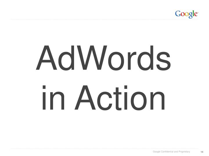 AdWords in Action