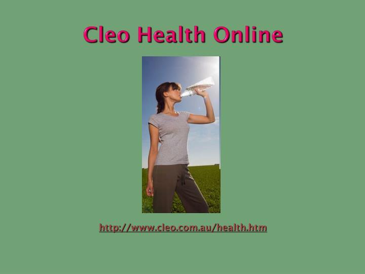 Cleo Health Online