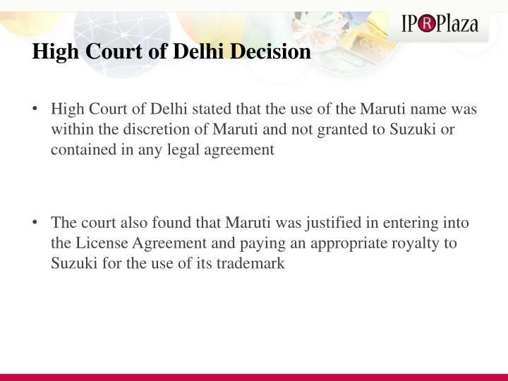 High Court of Delhi Decision